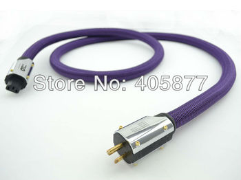 Hifi audio  Purple Rush US AC power cord cable without box hifi power cables 2M