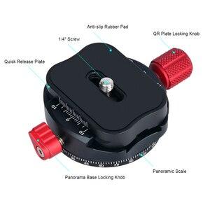 Image 5 - Andoer PAN C1 パノラマ雲台ボールヘッドのクイックリリースプレートとクランプアダプタアルカスイス標準として QR プレート