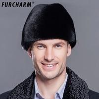 Furcharm Winter Real Fur Hat Men Mink Fur Hat Men S Mink Fur Trapper Cap Genuine
