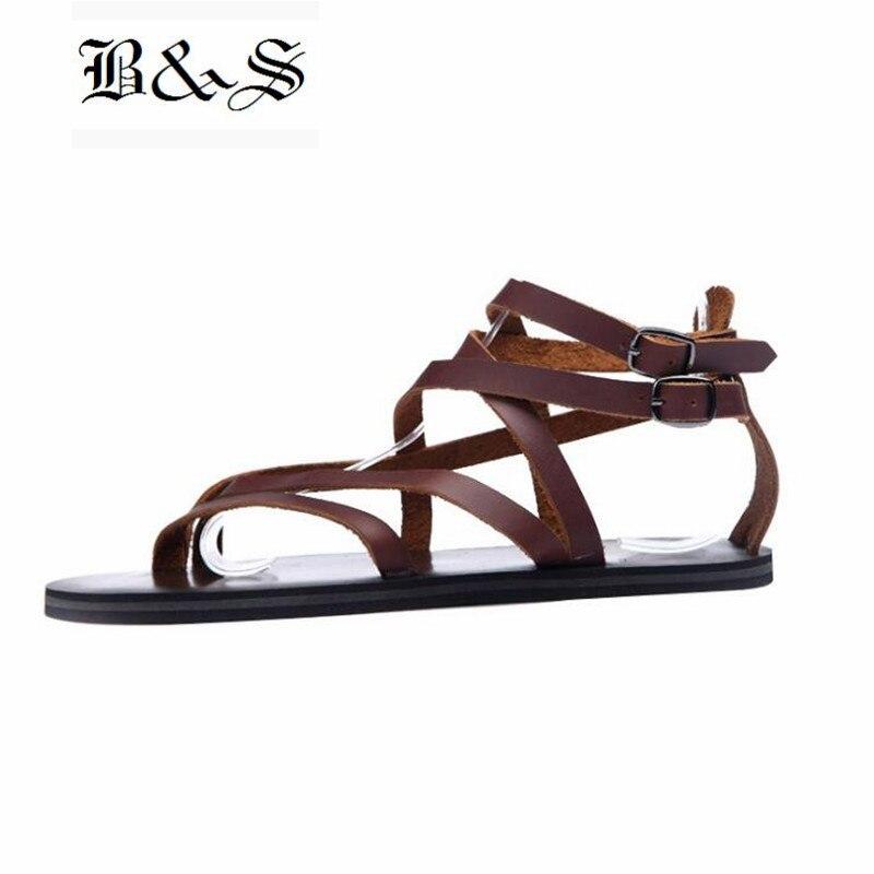 Roma Sapatos Homens De amp; Verão Owen Flip 2 Couro Genuíno Gladiador Flops Rua Sandálias Luxo Black 1 Dos ZBqwCw