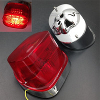 Motorcycle LED Brake Tail Lights Collar Cover For Harley Dyna XL FLSTF FLHRC Touring