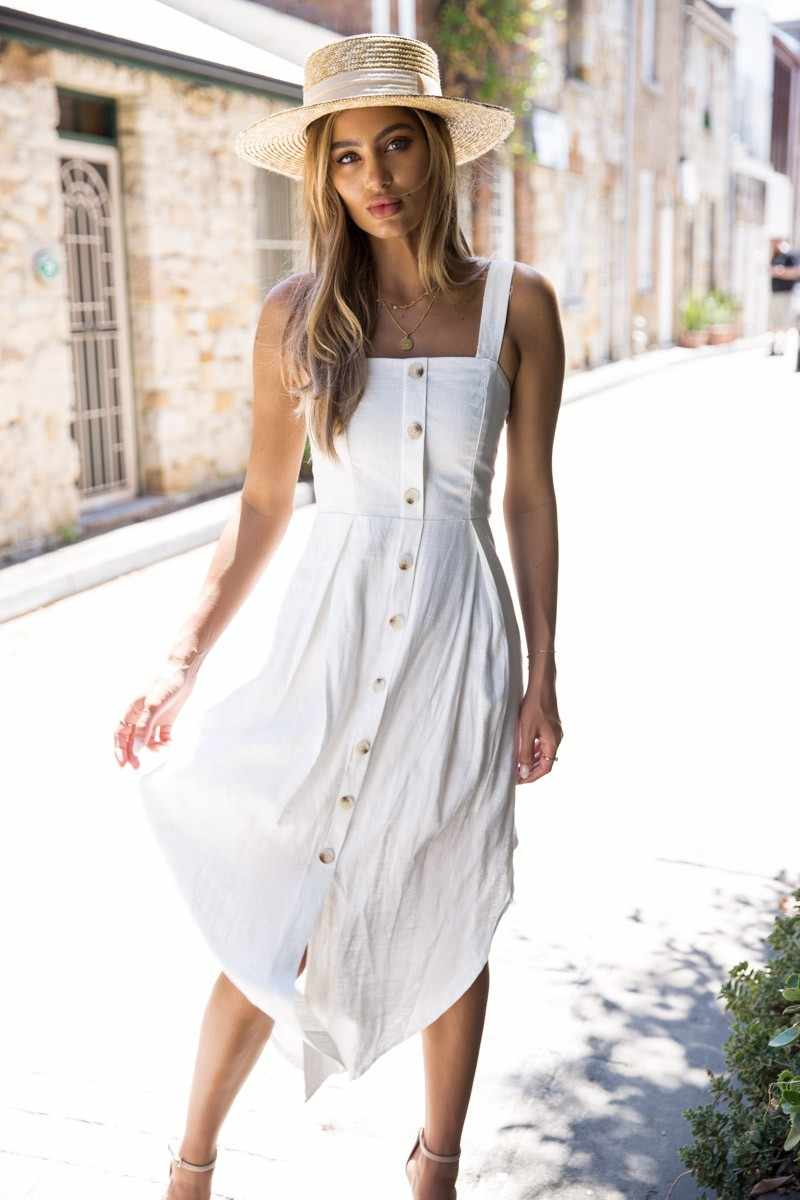AVODOVAMA M Лето 2018 г. 5 цветов женский нерегулярные с открытыми плечами Повседневное платье без рукавов и пуговицы для женщин платья для Vestido