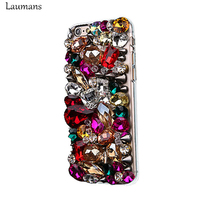 High Quality Attractive Colorful Rhinestone Phone Cases For Iphone 6 6s 6plus Handmade Back Cover For