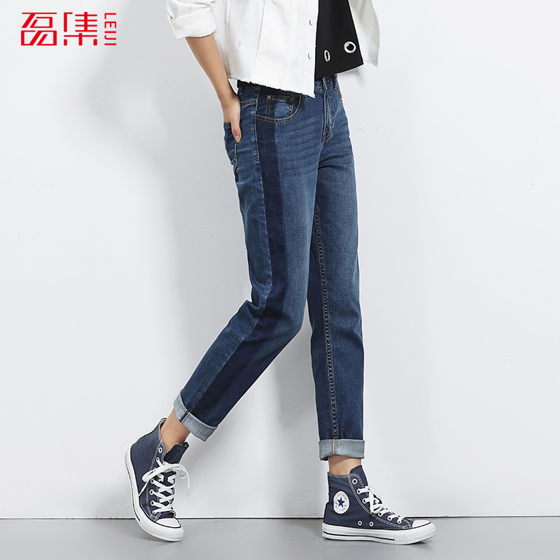 New arrival boyfriend jeans for women Mid waist jeans loose style low elastic puls size jeans womans Causal full length jeans leijijeans 2017 new arrival trouser for women boyfriend jeans loose casual style low elastic jeans with mid waist plus size