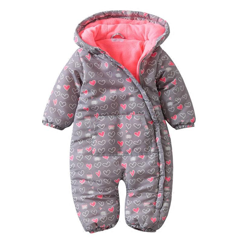 Autumn winter baby boy girls Rompers thickened hoodies kids children jumpsuit Baby Clothing Pajamas