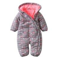 Autumn winter baby boy girls Rompers thickened hoodies kids children jumpsuit Baby Clothing Pajamas