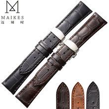 Maikes натуральная кожа часы 22 мм 20 мм завод прямых продаж бабочка пряжка кожи теленка ремешок для мидо