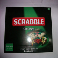 Promotion 1pcs Scrabble Games 3 Models For Option Crossword Board Spelling Games Free Shipping