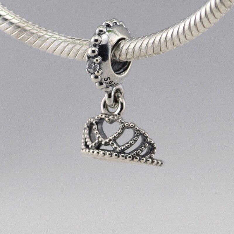 Passt Europäischen Charms Armband Neue 925 Sterling Silber Krone Liebe Perlen Mit Silber Charme DIY Herstellung Von Schmuck FL266