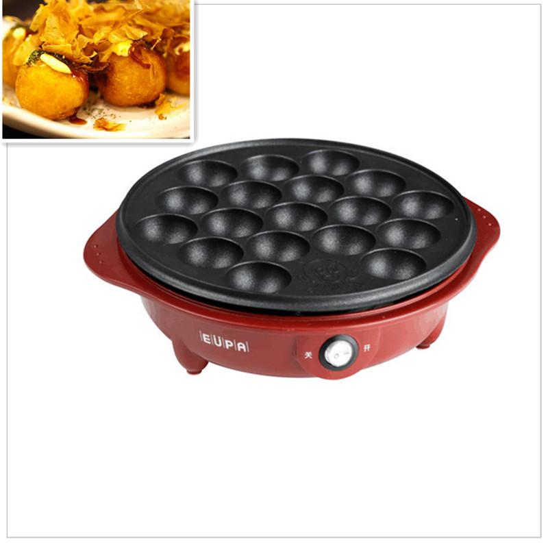 220V/650W New Non-stick Electric Professional Octopus Balls Machine Takoyaki Maker Meat Balls Fish With 18 Holes cukyi exported professional octopus ball maker takoyaki machine 650w 220v 18 holes grill mold burning plate diy cooking tools