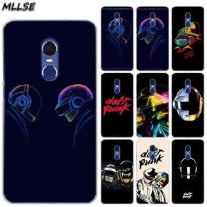 MLLSE fajne zespół Daft Punk kask moda przezroczysty futerał etui na Xiaomi grać Rdemi S2 3S 4A 5A 5Plus 6A pro uwaga 6 5A 4X4 7 okładka