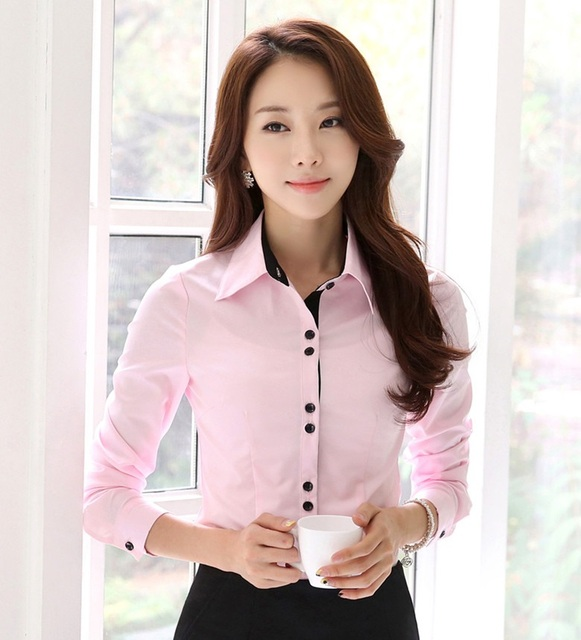Aliexpress.com : Buy New 2017 Spring Fall Formal Shirts Women Work ...