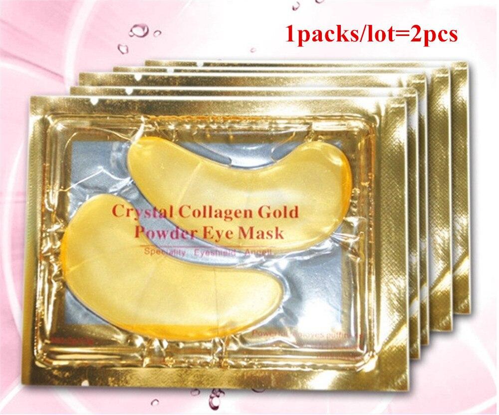 Natural Crystal Collagen Gold Powder Eye Mask Anti Aging Eliminates Aye Dark Circles Fine Lines Face