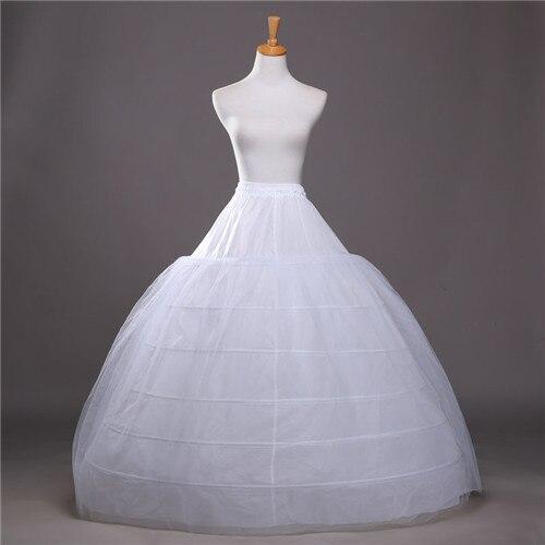 JAEDEN Ball Gown Petticoats For Wedding Dresses Elastic 6 Hoops One Tiers Dress Underskirt Crinoline Wedding