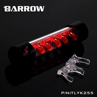 Barrow T Virus Helix Suspension Cylinder Water Tank 255mm With Black Cap Water Cooling Reservoir TLYK255