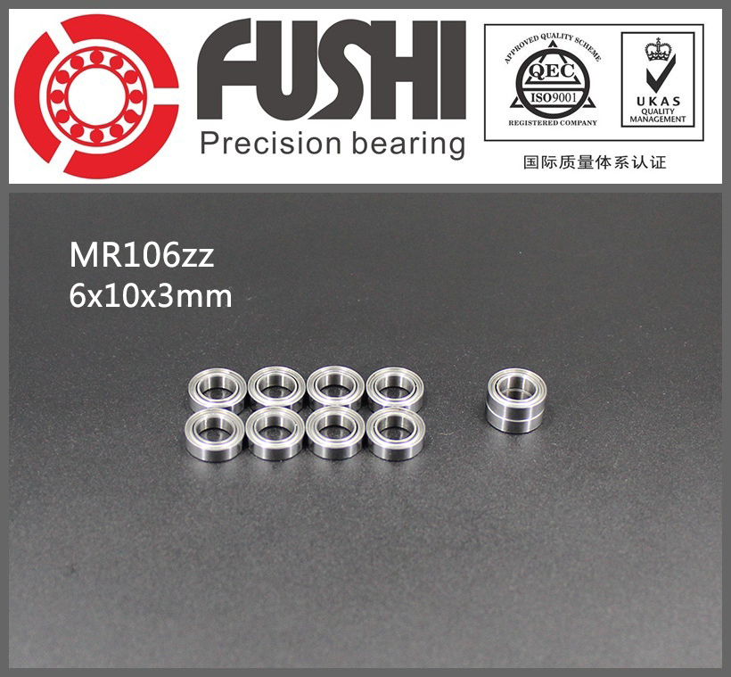 MR106ZZ Bearing ABEC-1 (10PCS) 6*10*3 mm Miniature MR106 ZZ Ball Bearings L1060ZZ MR106Z 6903zz bearing abec 1 10pcs 17x30x7 mm thin section 6903 zz ball bearings 6903z 61903 z