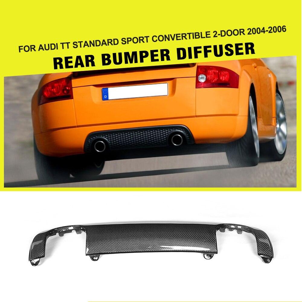 Carbon fiber rear bumper lip diffuser for Audi TT 8N 04-06 Sport Coupe Convertible 2 Door