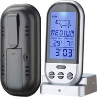 Digital LCD Wireless Remote Food Thermometer Probe Temperature Kitchen Cooking Grill Meat Turkey BBQ Tools