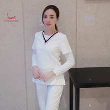 Korean hospital beauty hospital nurses wear white pants suit beauty salon beautician nurse nurse uniform
