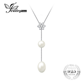 Flower Round 6.5mm Pearl Chain Choker Strand Beads Necklace