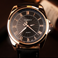 Rose Gold Wrist Watch Men Top Brand Luxury Famous 2016 Male Clock Quartz Watch Golden Business