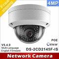 Frete grátis DS-2CD2145F-IS mesmo como inglês modelo DS-2CD2142FWD-IS H265 4MP câmeras áudio CCTV câmera dome de rede IP poe IPC