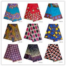 7871d4dd3afe62 6 Yards 100% Baumwolle Java Stoffe Nigeria Afrikanischen Stoff Wachs Druck  Neueste Stoff Für Kleid