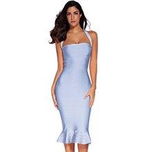 2019 Sexy Women Summer Dress New Long Bandage Mermaid Charming Lady Party Beach Spaghetti Strap