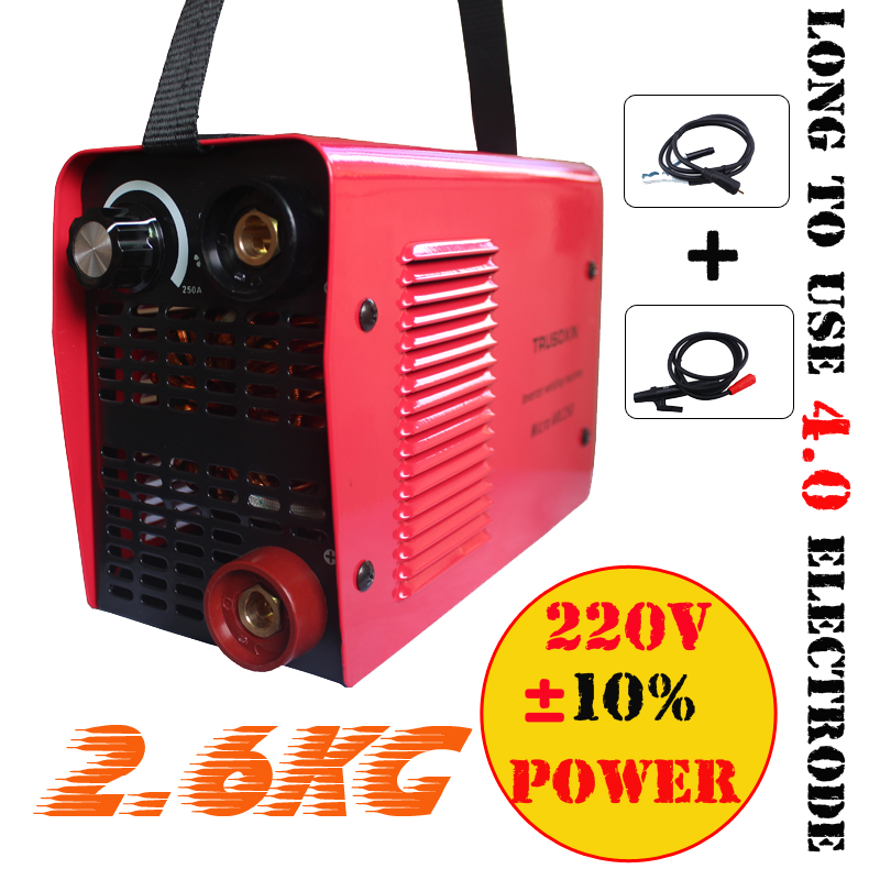 Micro stick welder Protable IGBT inverter DC MMA welding machine/equipment/tool for 4.0 electrode with hand holder earth clamp