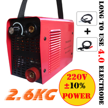 Micro stick welder Protable IGBT inverter DC MMA welding machine/equipment/tool for 4.0 electrode with hand holder earth clamp new zx7250 220v voltage input protable inverter dc igbt diy welding machinery equipment stick welder with accessories eyes mask