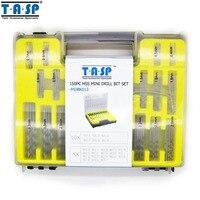 TASP 150PC 0 4 3 2mm HSS Micro Drill Bit Set Precision PCB Twist Drill Kit