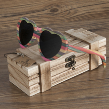 BOBO BIRD Brand Unique Design Heart-shaped Wood Sunglasses Women Fashion Sun glasses Ladies Memento Gift Dropshipping BG019