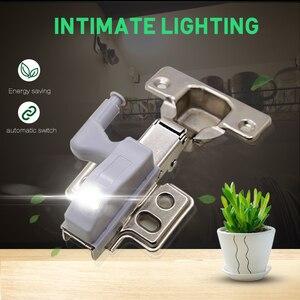 Image 4 - Goodland LED Night Light Automatic Sensor Light Wardrobe Inner Hinge Lamp Cabinet Light With Battery For Kitchen Cupboard Closet