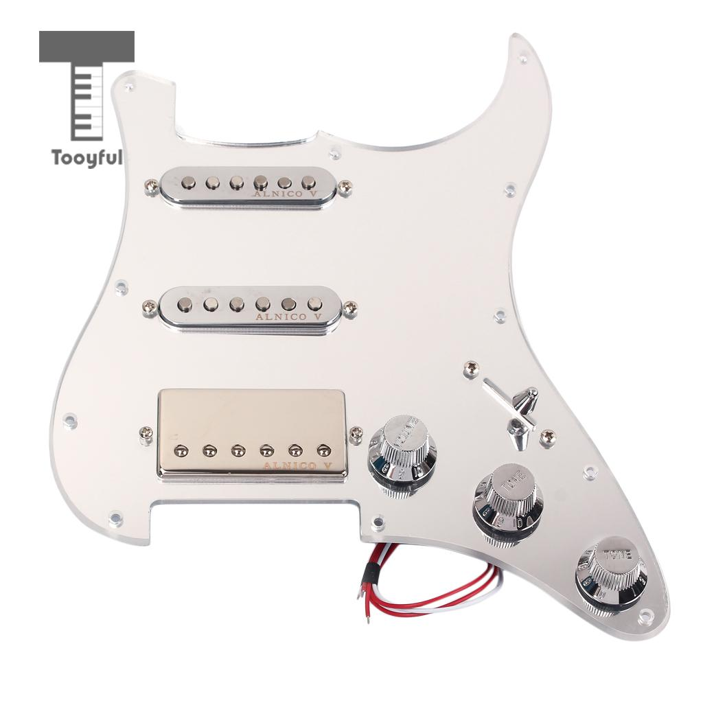 Tooyful SSH Loaded Prewired Pickguard Humbucker Set for Strat ST Electric Guitar
