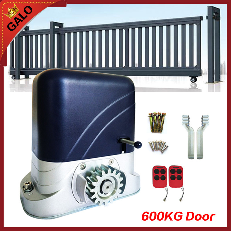 Full kits electronic rolling sliding gate motors driving 600kg home or factory Gate with 2ps remote control move door