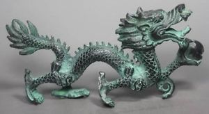 Chinese Collection Folk Old Bronze Handwork Dragon Statue decoration bronze factory outlets