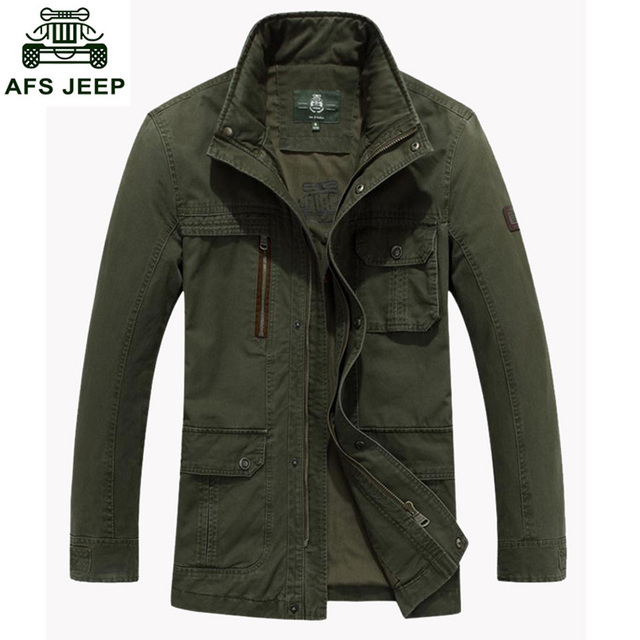 Free Shipping Men Jackets New Spring Cotton Coat Jacket Pocket Man Outwear Coats AFS JEEP Brand Autumn Jackets 135D