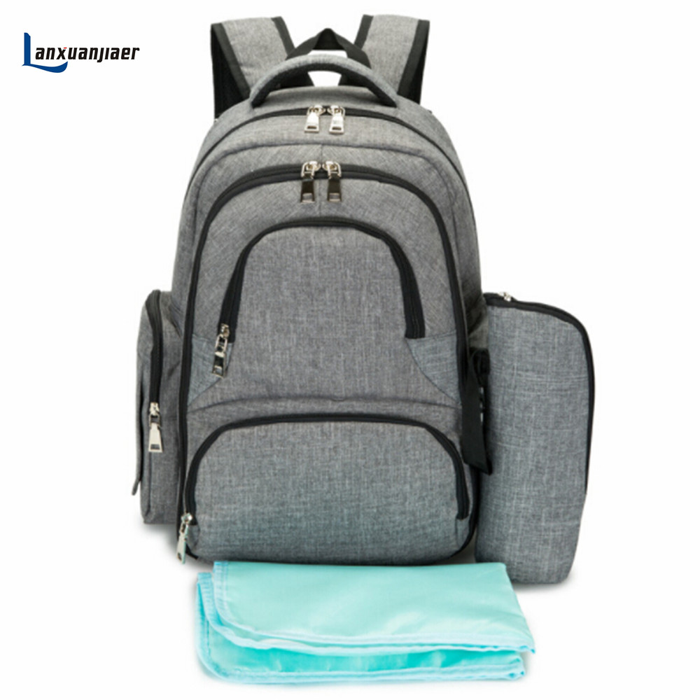купить Lanxuanjiaer Diaper Bag For Mother mum Baby Bag Maternity Backpack Stroller Bag Multifunction Big Capacity Backpack Nappy Bag по цене 2133.76 рублей
