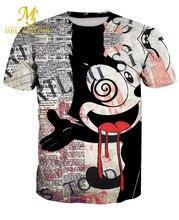 2017 Summer New Men 3D Michael Jackson Printed T Shirt Men Short Sleeve Casual Rock Hip