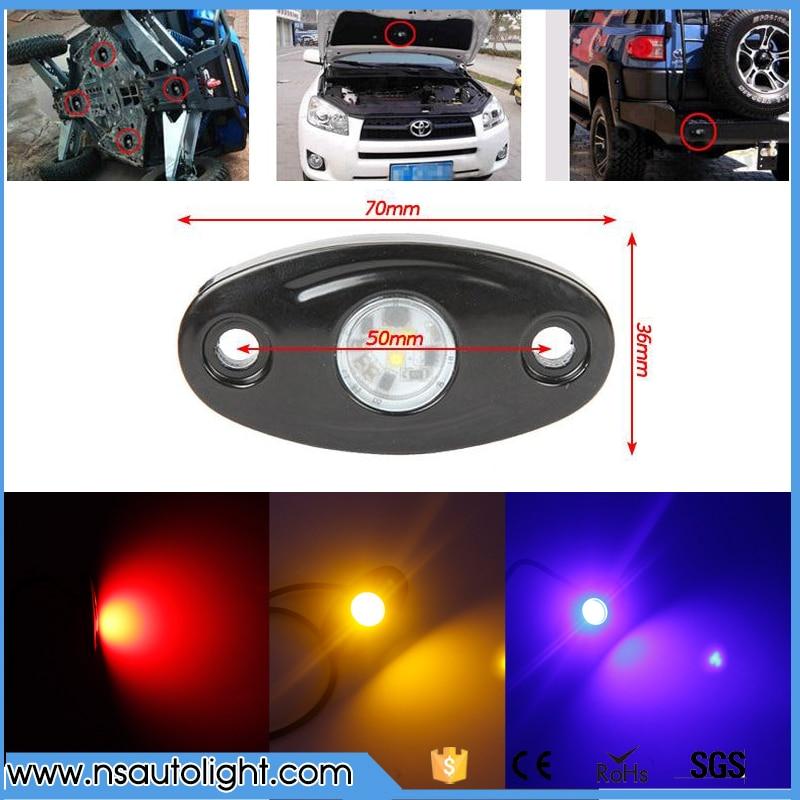 Universal 9w White Red Yellow Green Blue LED Light 12V 24V 4x4 Under LED Rock Light SUV ATV Boat Car Decorative Light