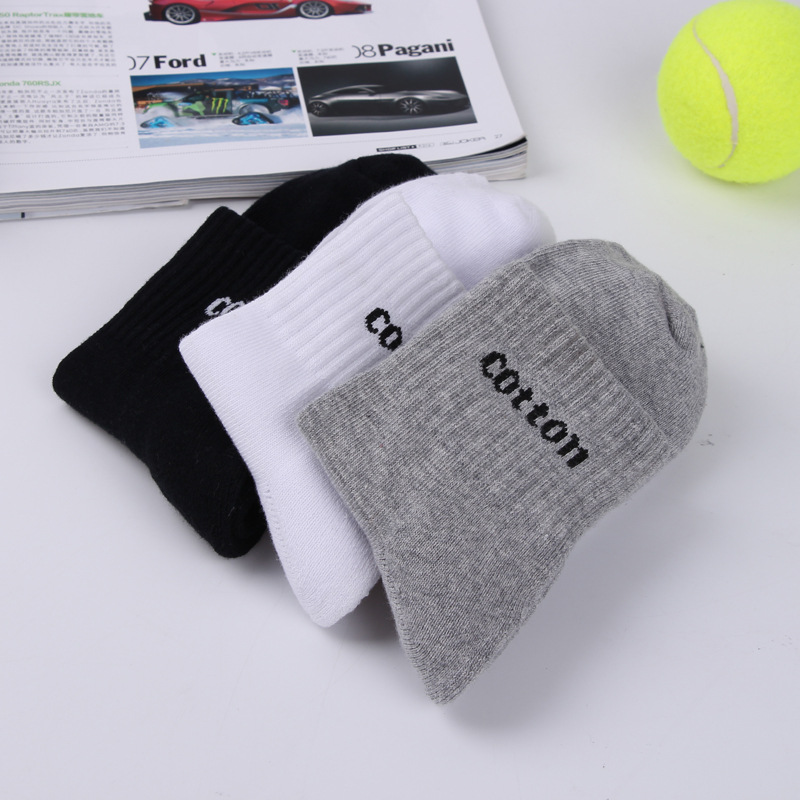 2017 Mens Autumn And Winter Cotton Towel bottom Solid Color Thicker Elite Casual Business Deodorization Men women Socks