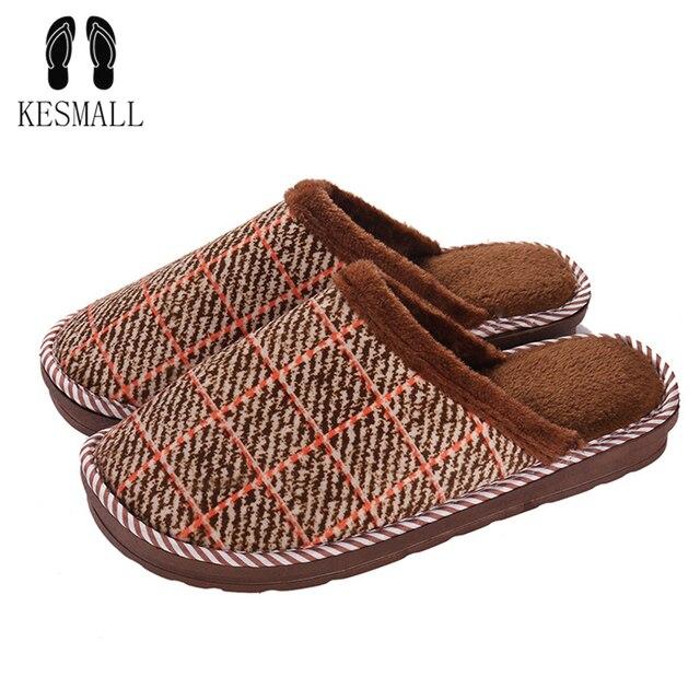 ee1dfc35ad8 KESMALL invierno zapatillas casa hombres Calzado cómodo Zapatillas de casa  interior con piel de hombre Zapatillas