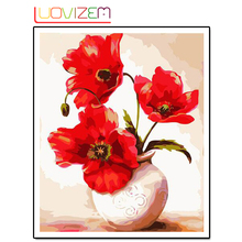 Flower Arrangement 5D Diy diamond painting Floral Vases Diamond Wall Stickers Cross Embroidery Embroidery.LUOVIZEM L093