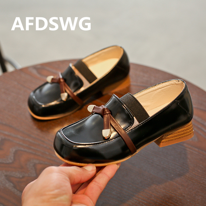0faa6399c939 Detail Feedback Questions about AFDSWG fashion black low heeled kids shoes  for girl princess brown children leather shoes boys wedding shoes leather  shoes ...