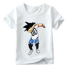 Children Dabbing Hipster Goku Funny T shirt Baby Summer Boys/Girls Anime Dragon Ball Z Top shirts Kids Casual Clothes YUDIE