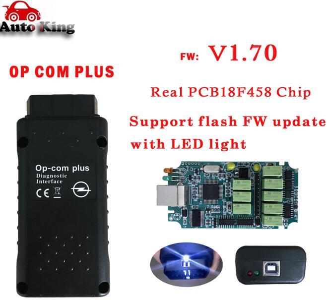 Лучший с чипом PIC18F458! Диагностический Интерфейс opcom сканер can obd2 для opel V1.70 op com plus can bus интерфейс - Цвет: opcom plus