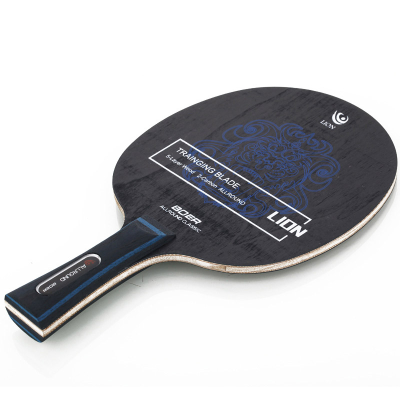 Lightweight BOER Ping Pong Racket Long Grip Carbon Fiber & Aryl Group Fiber Table Tennis Blade 7 Ply Durable Table Tennis Blade