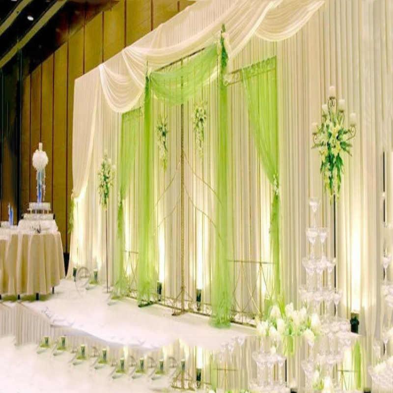 48 см * 5 м или 10 м Шелковый цветок в форме сердца арки вечерние Свадебная отделка органзы Ткань прозрачный кристалл ткань тюль поставки 75Z