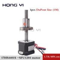 Nema17 ball screw Stepper Motor 42 motor 42BYGH 1.7A motor ball screw SFU1204 L300MM for CNC 3D printer 4 lead