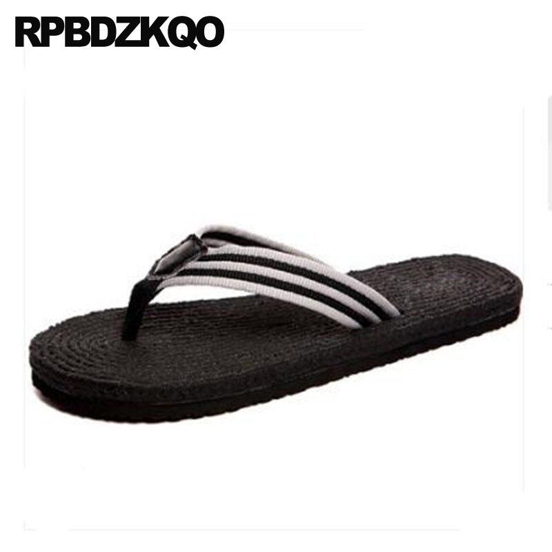 1edb965a8 Rope Fisherman Blue Black Slides Men Slippers Fashion Flip Flop Shoes Mens  Sandals 2018 Summer Outdoor Beach Flat Espadrilles